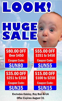 August Coupon - Hugh Summer Sale