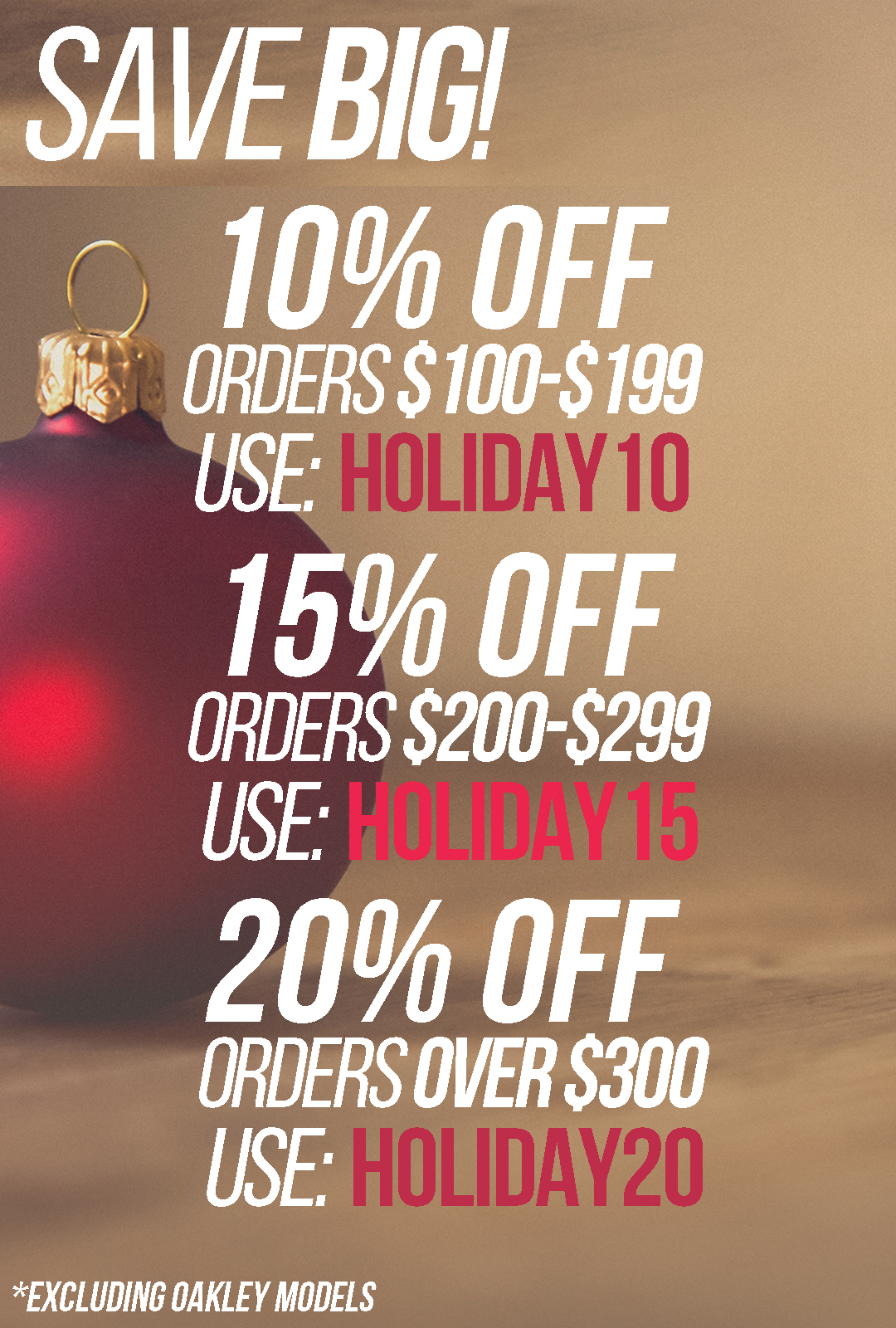 Holiday Coupon Codes