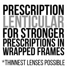 Prescription Lenticular Lenses Black and White