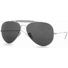 Ray Ban  RB3029 Outdoorsmans II Aviator Sunglasses  Black and White